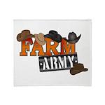 Farm Army Throw Blanket