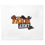Farm Army King Duvet