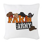 Farm Army Woven Throw Pillow