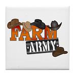 Farm Army Tile Coaster