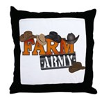 Farm Army Throw Pillow