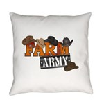 Farm Army Everyday Pillow
