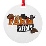 Farm Army Round Ornament
