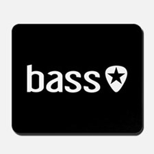 Bass Guitarist: Bass, Pick & Black Star Mousepad