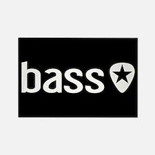 Bass Guitarist: Bass, Pick & Blac Rectangle Magnet