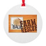 Farm Rescue Round Ornament