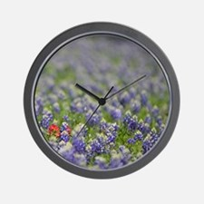 Cute Indian paintbrush Wall Clock