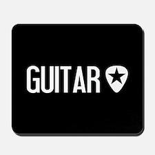 Guitarist: Guitar Pick & Black Star Mousepad