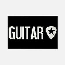 Guitarist: Guitar Pick & Black St Rectangle Magnet