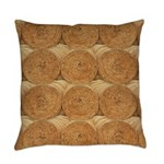 Hay Bale Everyday Pillow