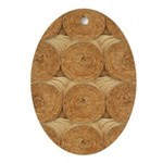 Hay Bale Oval Ornament