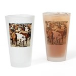 A Herd of Cattle Drinking Glass