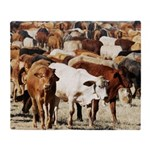A Herd of Cattle Throw Blanket