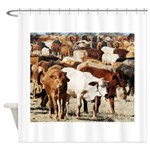 A Herd of Cattle Shower Curtain