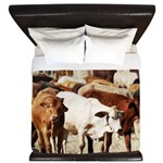 A Herd of Cattle King Duvet