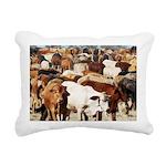 A Herd of Cattle Rectangular Canvas Pillow