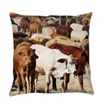 A Herd of Cattle Everyday Pillow