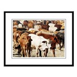 A Herd of Cattle Large Framed Print