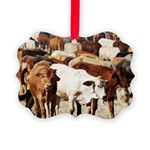 A Herd of Cattle Picture Ornament