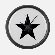 Black Star Large Wall Clock