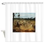 Herding Cattle Shower Curtain