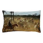 Herding Cattle Pillow Case