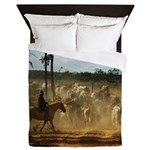 Herding Cattle Queen Duvet