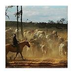 Herding Cattle Tile Coaster