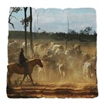 Herding Cattle Tufted Chair Cushion