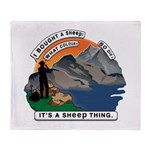 I Bought A Sheep Mountain Throw Blanket
