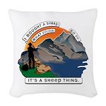 I Bought A Sheep Mountain Woven Throw Pillow