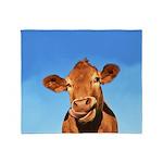 Selfie Cow Throw Blanket