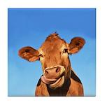 Selfie Cow Tile Coaster