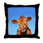 Selfie Cow Throw Pillow