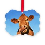 Selfie Cow Picture Ornament