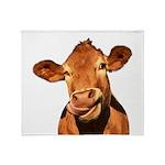 Selfie Cow (Transparent) Throw Blanket