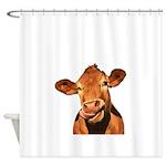 Selfie Cow (Transparent) Shower Curtain