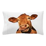 Selfie Cow (Transparent) Pillow Case