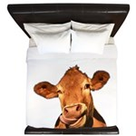 Selfie Cow (Transparent) King Duvet