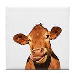 Selfie Cow (Transparent) Tile Coaster