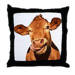 Selfie Cow (Transparent) Throw Pillow