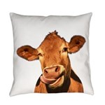 Selfie Cow (Transparent) Everyday Pillow
