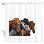 Cowboy Horses Shower Curtain
