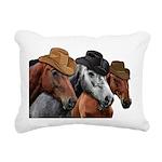 Cowboy Horses Rectangular Canvas Pillow
