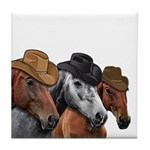 Cowboy Horses Tile Coaster