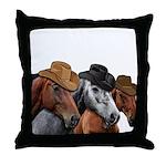 Cowboy Horses Throw Pillow