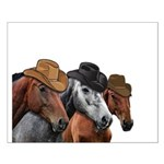 Cowboy Horses Small Poster