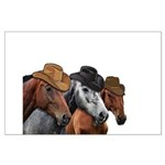 Cowboy Horses Large Poster