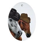 Cowboy Horses Oval Ornament