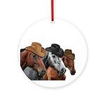 Cowboy Horses Round Ornament